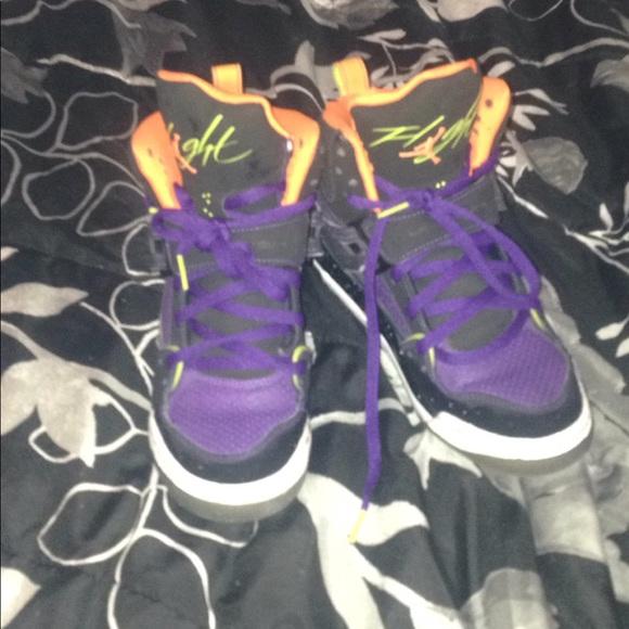 4cd2c4866c6 Jordan Shoes | S Purple Black White Orange | Poshmark